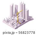 Vector isometric construction site 56823778