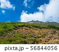 登山道から青空の中の那須茶臼岳を望む 56844056