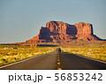 Empty scenic highway in Monument Valley 56853242