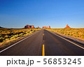 Empty scenic highway in Monument Valley 56853245