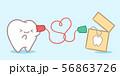 cartoon tooth speaking can phone 56863726