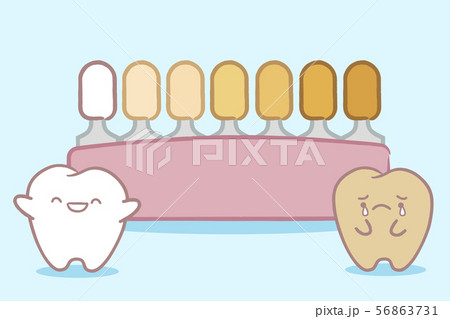 tooth with tooth color palette 56863731