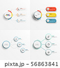 Set abstract elements of graph infographic 56863841
