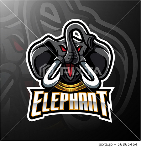 Elephant head mascot logo design 56865464