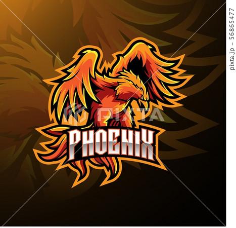 Phoenix sport mascot logo design 56865477