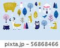 寒中見舞い 冬の動物たち 56868466