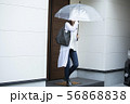 女性・雨の日の外出 56868838
