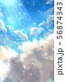 光り差す青空 56874343
