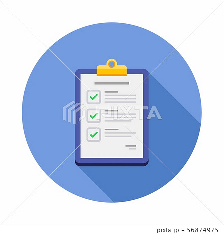 Check list, Clipboard, Document, Flat icon 56874975