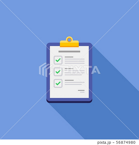 Check list, Clipboard, Document, Flat icon 56874980