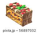 あんずとレーズンサンドのチョコレートケーキ 56897032