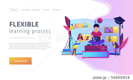 Personalized learning concept landing page 56900958