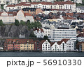Picturesque Houses On Mountain Slope In Bergen 56910330