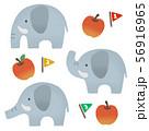 動物 ゾウ 56916965