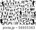 スポーツ シルエットイラストセット 56935363