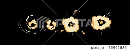 Cartoon explosion cloud set - comic style animation movement 56942686