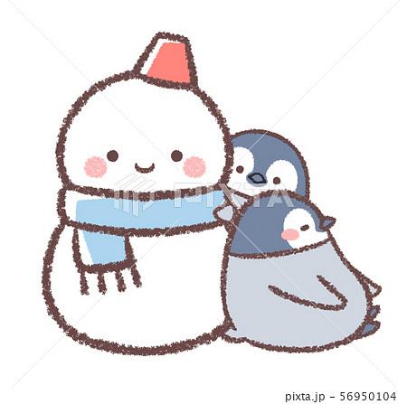 雪だるまとペンギンヒナ 56950104