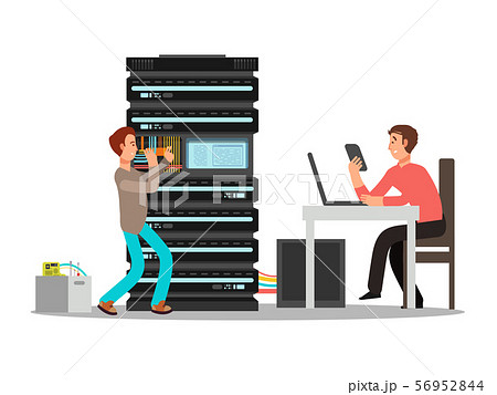 Man engineer, technician working in office 56952844