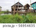 水上集落  ミャンマー インレー湖 56954635