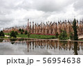 カックー遺跡の仏塔群 水鏡 ミャンマー 56954638