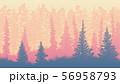 Horizontal illustration of morning rare forest. 56958793
