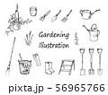 ガーデニング ペン画 セット 56965766