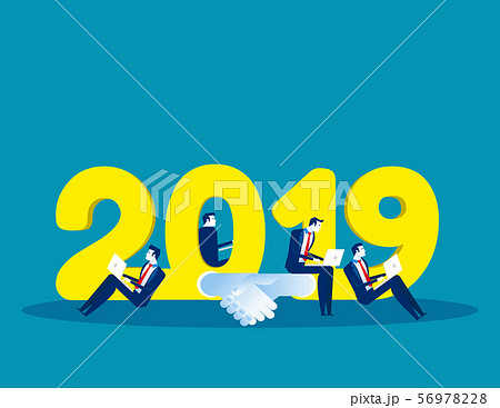 2019 Growth and success. Concept business vector 56978228