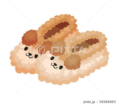 Warm indoor slippers. Vector illustration on a white background. 56988865