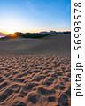 《鳥取県》鳥取砂丘の夜明け 56993578