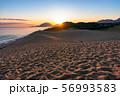 《鳥取県》鳥取砂丘の夜明け 56993583
