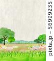 自然風景 丘 山 空 コラージュ 56999235