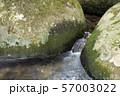 岩の間を流れる奥十曽渓谷の沢 57003022