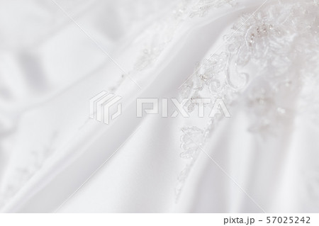 Bride's dress with embroidered elements and beads. 57025242