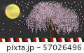 桜と3色の幕(4) 57026496