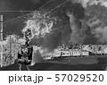 爆煙を吐くデゴイチイメージ 57029520