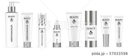 Set of white vector cosmetic bottle blank 57033598