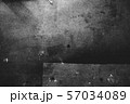 Photo of old scratched surface texture in black and white colors 57034089