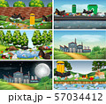 Set of polluted scenes 57034412