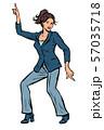 Dancing business woman. Disco dance club music 57035718