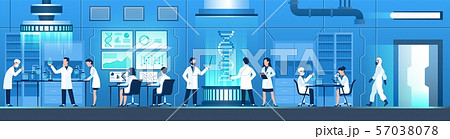 Science researching lab. Biotechnology genetic research, modification dna molecular tests. Genetic 57038078