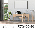 interior laptop computer and mockup blank poster 57042249