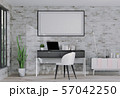 interior laptop computer and mockup blank poster 57042250