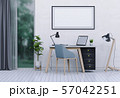 interior laptop computer and mockup blank poster 57042251
