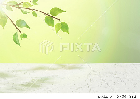 wood table top on green bokeh abstract background 57044832