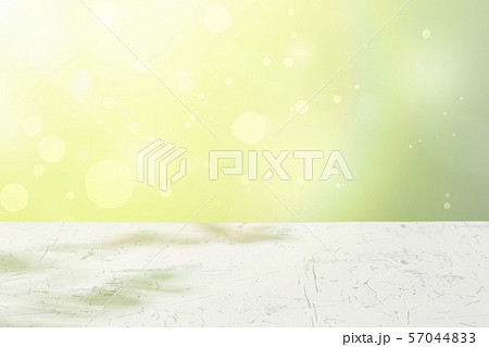 wood table top on green bokeh abstract background 57044833