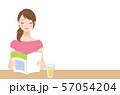 本を読む女性 リラックス 57054204