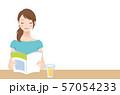 本を読む女性 リラックス 57054233