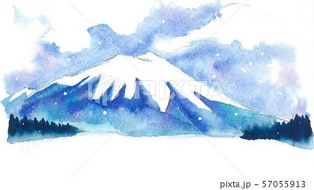 水彩風景_岩手山 57055913