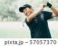 ゴルフ スポーツ 趣味 余暇 日本人ミドル男性 新緑 初夏 57057370