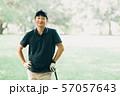 ゴルフ スポーツ 趣味 余暇 日本人ミドル男性 新緑 初夏 57057643